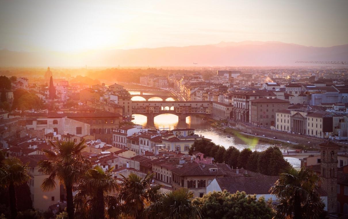 Cidade Europeia Por do Sol
