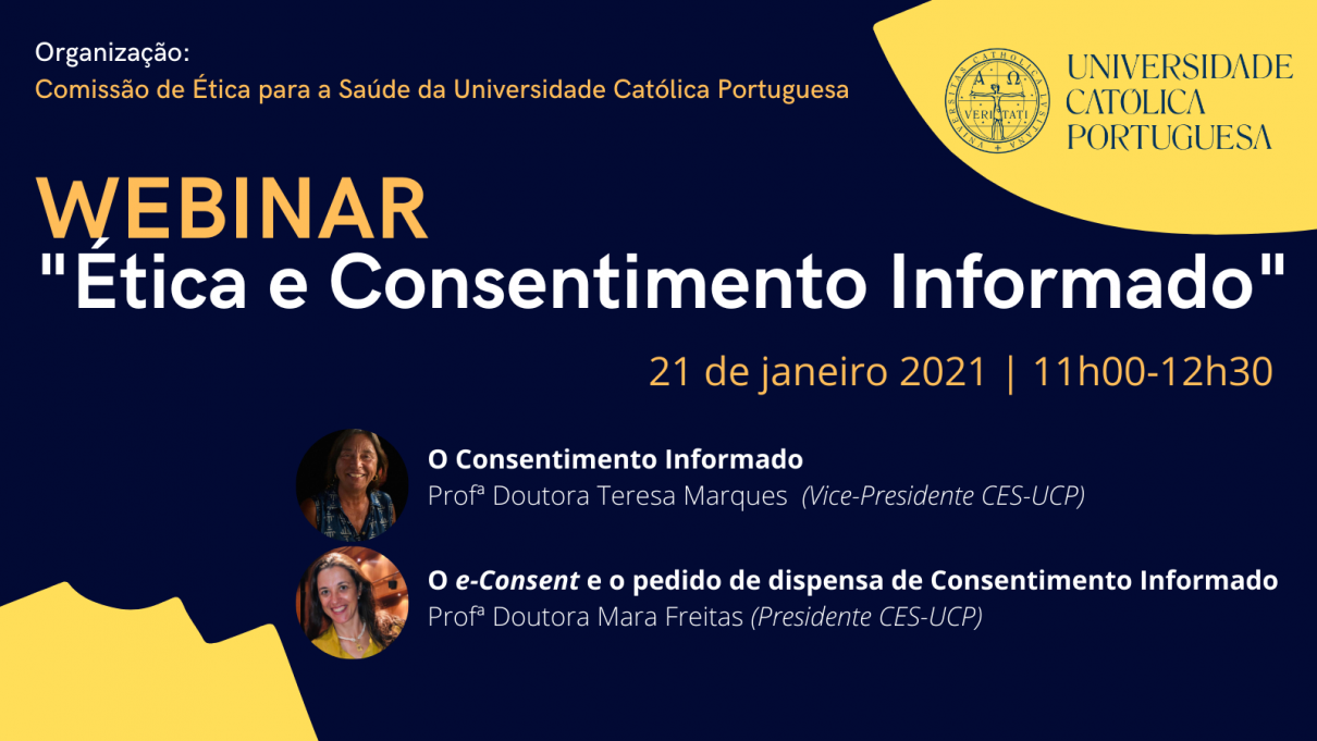 "Cartaz - Webinar ""Ética e Consentimento Informado"""