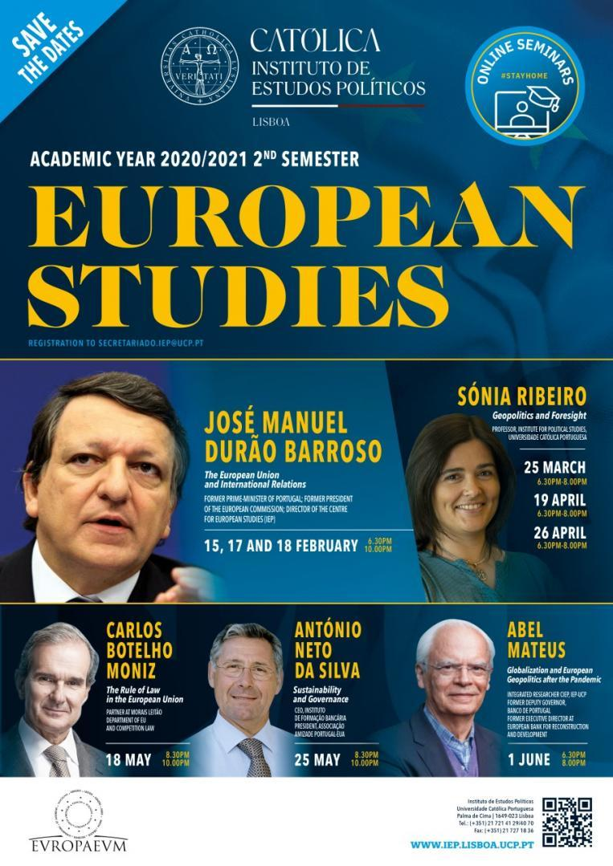 Cartaz - European Studies Seminar 2020/2021